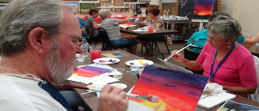 Social Activities, Social, Active Adult, Retirement, Painting